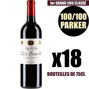 VIN ROUGE X18 Clos Fourtet 2009 75 cl AOC Saint-Émilion 1er