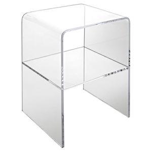 Table De Nuit Plexiglas table de chevet transparent - achat / vente pas cher