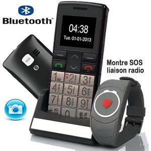 MONTRE CONNECTÉE Téléphone seniors montre connectée avec bouton SOS
