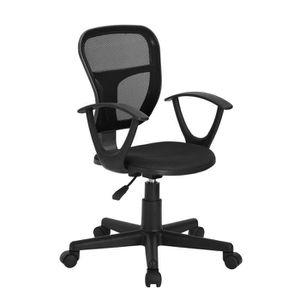 Fauteuil de bureau noir achat vente fauteuil de bureau - Chaise de bureau avec accoudoir ...