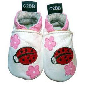 C2BB. Chaussons bébé en cuir eff… shik3Uw7
