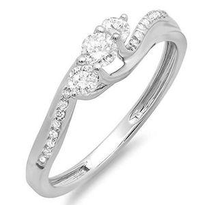 BAGUE - ANNEAU Bague Femme Diamants 0.50 ct  18 ct 750-1000 Or Bl