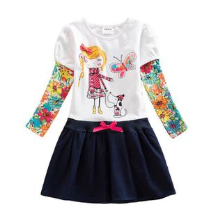 ROBE Robes enfant fille manches longues floral broderie