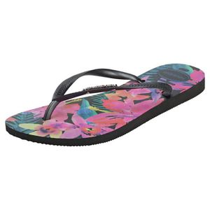 TONG Havaianas Slim Tropical Femmes Flip Flop Noir Mult