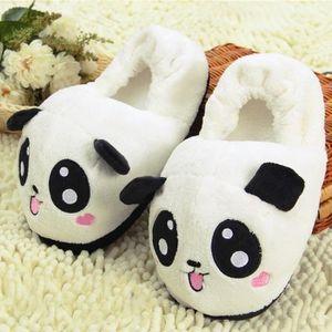 CHAUSSON - PANTOUFLE Panda Paire de Chausson en Peluche Pantoufles en C
