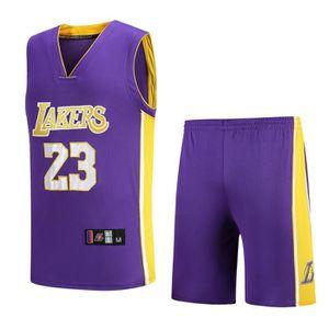 reputable site 1d4eb 49f66 MAILLOT DE BASKET-BALL NBA Star LAL LeBron James Maillot et Shorts de bas