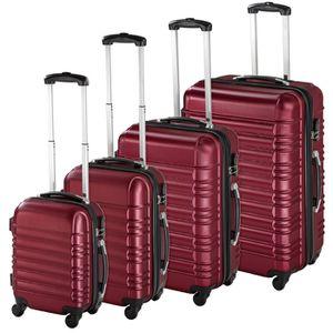 SET DE VALISES TECTAKE Set de 4 valises Mixte Trolley 402026 - Ri