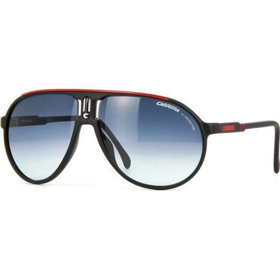 302080a06174d9 CARRERA Lunettes de soleil Homme Modèle Champion - Catégorie 2 - Monture  plastique Noir - Verres gris dégradé Noir - Achat   Vente lunettes de  soleil Homme ...