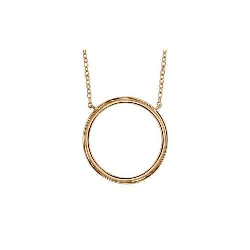 Collier plaqué or anneau diamètre 20mm 40+4cm