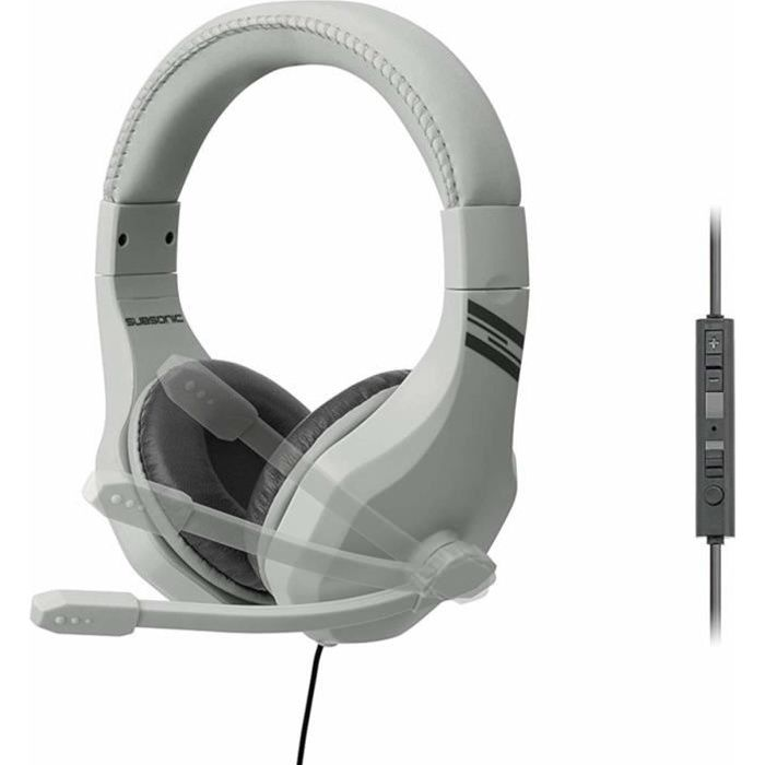 Subsonic casque gamer avec micro pour playstation 4 ps4 slim pro xbox one pc nintendo switch accessoire retro gaming