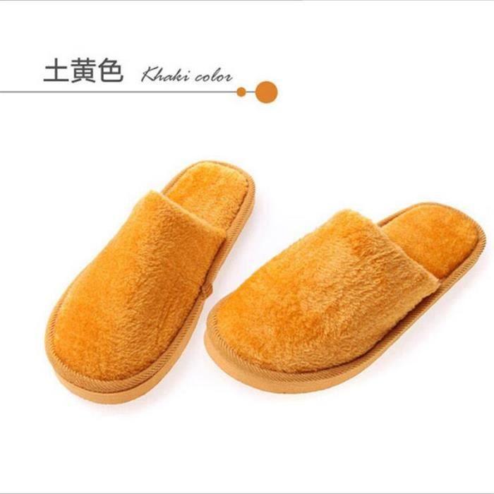 chaussure homme Accueil Pantoufles Pantoufles en coton chaud d'hiver Haut qualité Confortable chaussons décontractée chaussure HGVjw