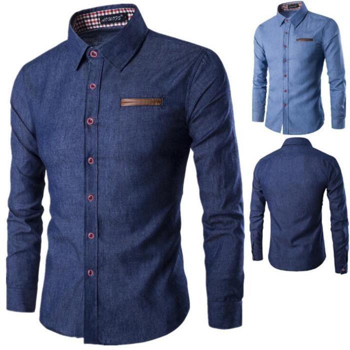 chemise homme de marque de luxe nouvelle collection gilet hommes manche  longue vetement Confortable Respirant dentelle M-XXXL 812f1073f66