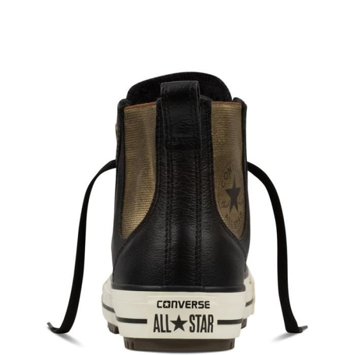BASKET - Converse all star chelsea boot leather + fur