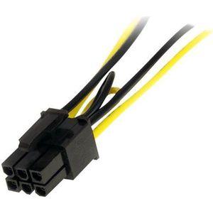 STARTECH Câble adaptateur d'alimentation SATA vers PCI Express 15 cm pour carte vidéo - Répartiteur 2x SATA vers 1x PCIe (M)