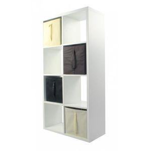 meuble tagre compo etagre 8 cases 4 cubes chococrunoir