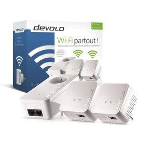 COURANT PORTEUR - CPL DEVOLO Kit 2 CPL Wi-Fi 550 Mbit/s + 1 CPL filaire
