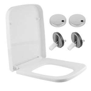 ABATTANT WC Coin rond Comfortable Abattant WC taupe salle de b
