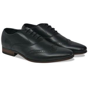 RICHELIEU Chaussures à lacets pour hommes Noir Pointure 45 C