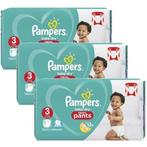 COUCHE Mega Pack 130 Couches Pampers Baby Dry Pants taill
