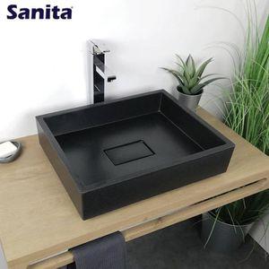 vasque pierre noir achat vente pas cher. Black Bedroom Furniture Sets. Home Design Ideas