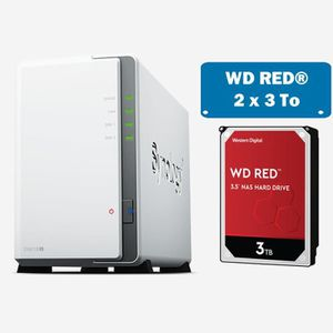 SERVEUR STOCKAGE - NAS  Synology DS218J WD RED 6To