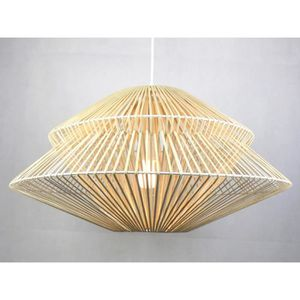 LUSTRE ET SUSPENSION Suspension en rotin ADANA - D60 x H36 cm