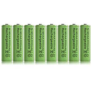 BATTERIE VÉHICULE 8pcs Ni MH AA 3000mAh 1.2V piles rechargeables bat