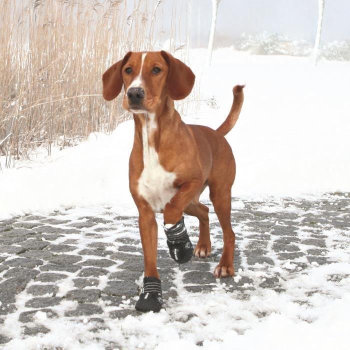 TRIXIE Bottes de protection Walker Active 2 pièces M- Noir - Pour chien