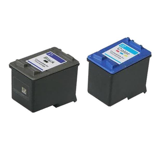9c5f61f42c6f7c 2 Compatible Encre Encre Cartouche pour HP 21 22 Deskjet D1470 D1520 D1530  D1558 D1560 D1568 D2230 D2300 D2320 D2330 D2345 D1468