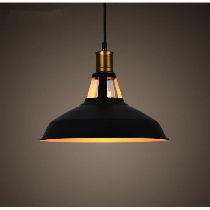 1PCS Metal Retro Suspensions Luminaire Industriel Style Plafonnier Noir 31856e449596