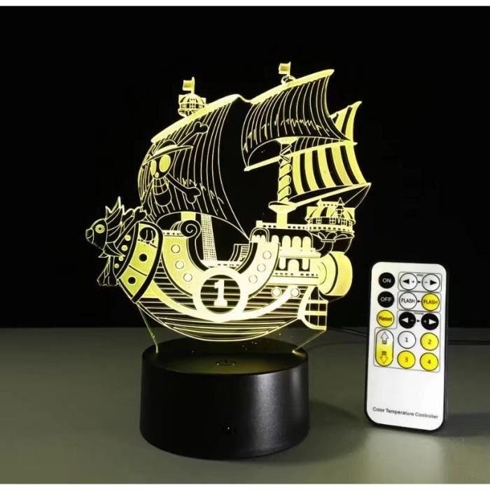 Veilleuse 3d Forme De One Tactile Chevet Couleurs Lampe Décorative En Led Creative Piece 7 Voilier 67Ygybf