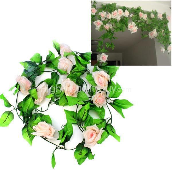 fleurs artificielles lierre vigne faux hanging garland plantes floral rotin maison salle de. Black Bedroom Furniture Sets. Home Design Ideas