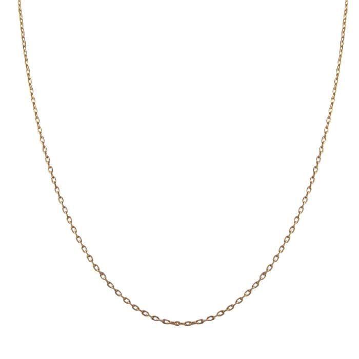b435848e9f456 Collier Pendentif Argent Fin 925-1000 Plaqué Or Rose 585-1000 (14 ct) Rose  Chaîne