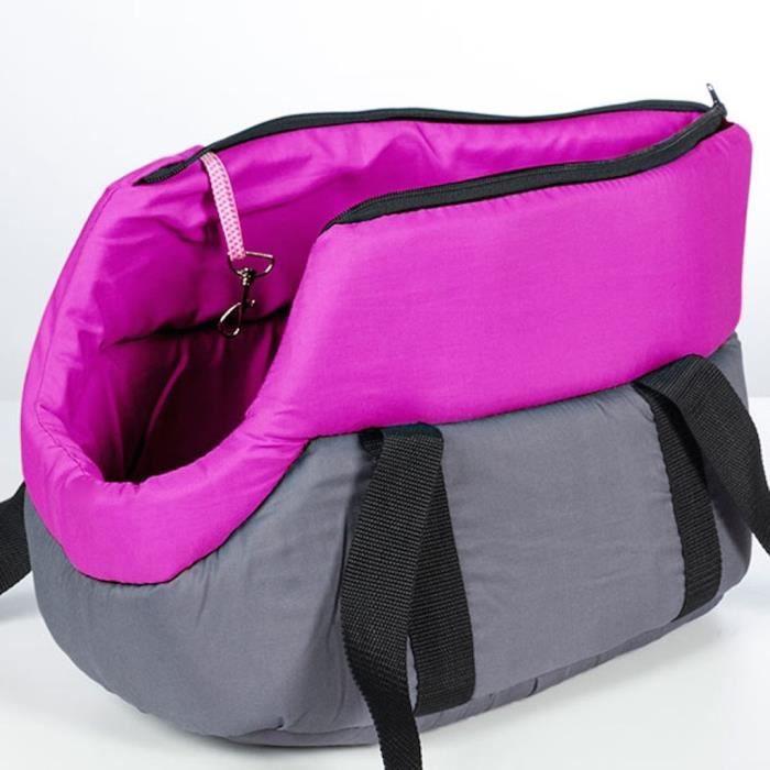sac de transport en tissu pour petit chien ou chat rose achat vente panier de transport sac. Black Bedroom Furniture Sets. Home Design Ideas