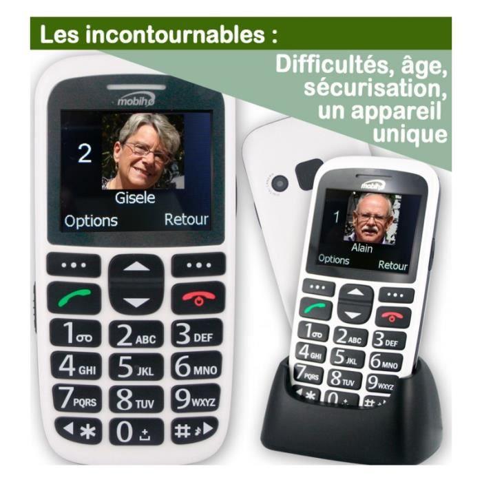 Téléphone portable CLASSIC INITIAL Blanc. Le seul appareil réunissant 49db42627753