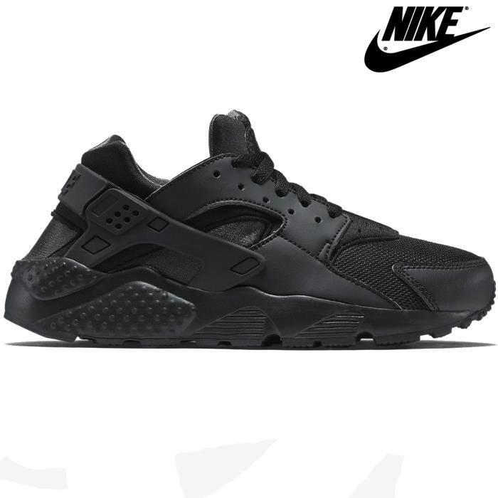 Nike Air Huarache Triple Black   Noir - Achat / Vente basket  - Soldes* dès le 27 juin ! Cdiscount