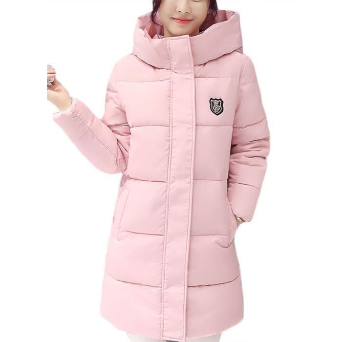 Hiver Eozy Longue Femme Doudoune Fille À Rose Capuche Mode Manteau 8U8pwqR