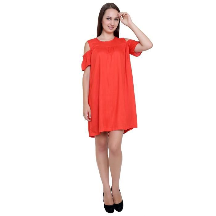 Womens Red A-line Dress BR9C3 Taille-32