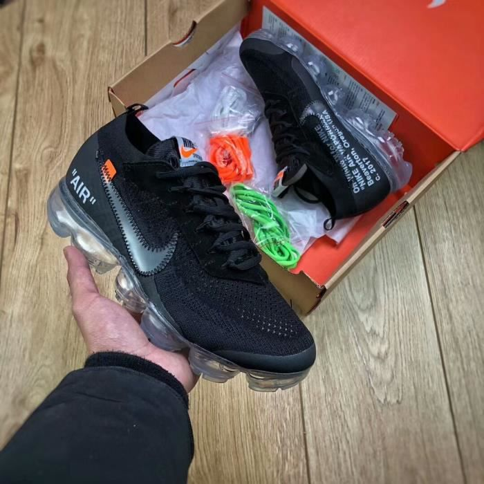 new products 6c374 f9e90 BASKET Nike Air Vapormax Flyknit X OFF WHITE 2018 BlackT
