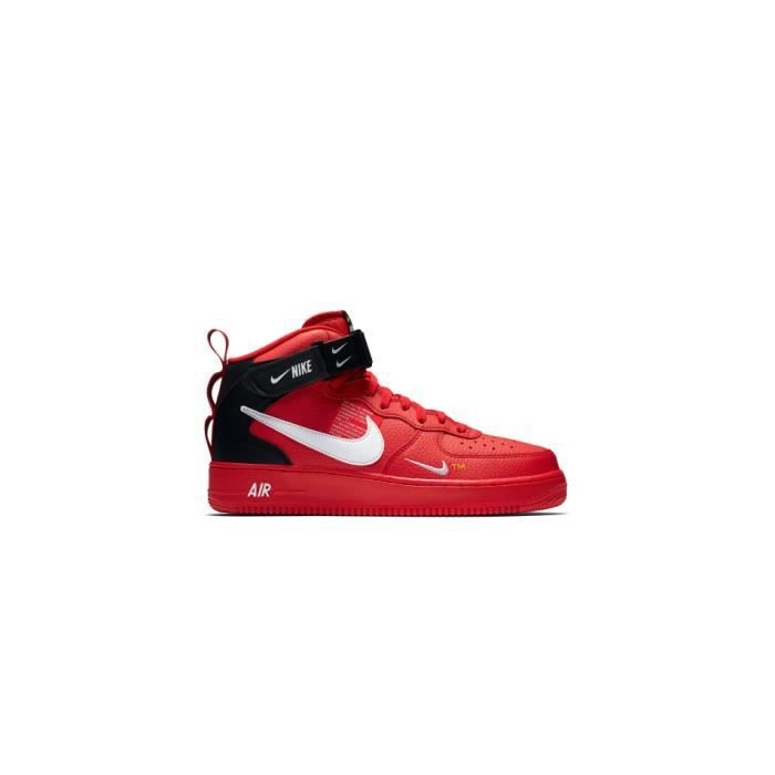 new style 0574e bee9b Nike Air Force 1 Mid 07 LV8 Rouge Rouge - Achat / Vente basket ...