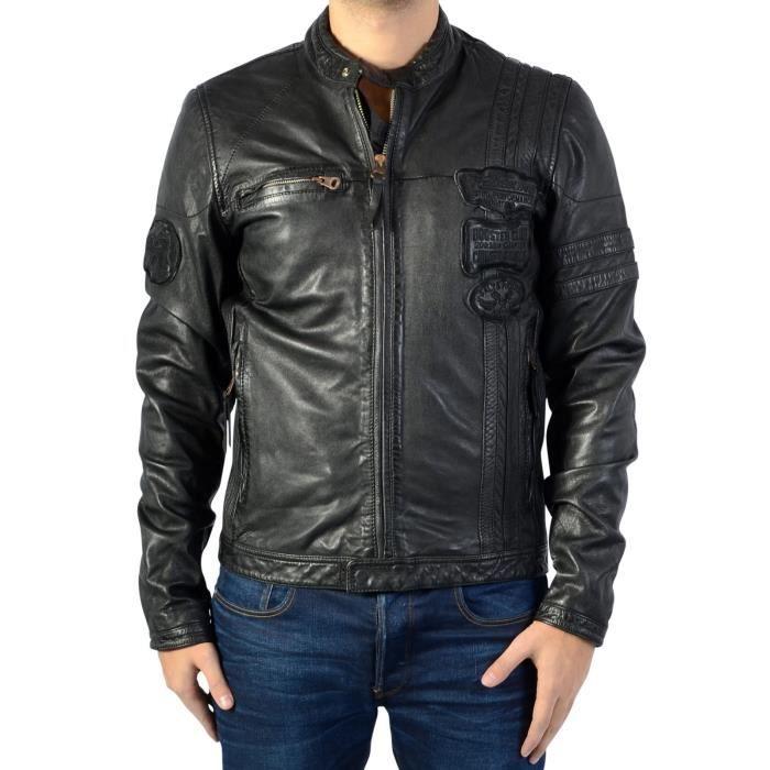 Acheter veste en cuir redskins