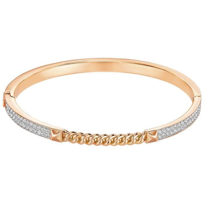 fdaff83fc47bac Bracelet jonc Swarovski Fiction rosé S - Achat   Vente bracelet ...
