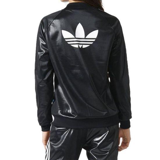 cae82c23e9 Veste Superstar TT Noir Femme Adidas Noir Noir - Achat / Vente veste -  Cdiscount