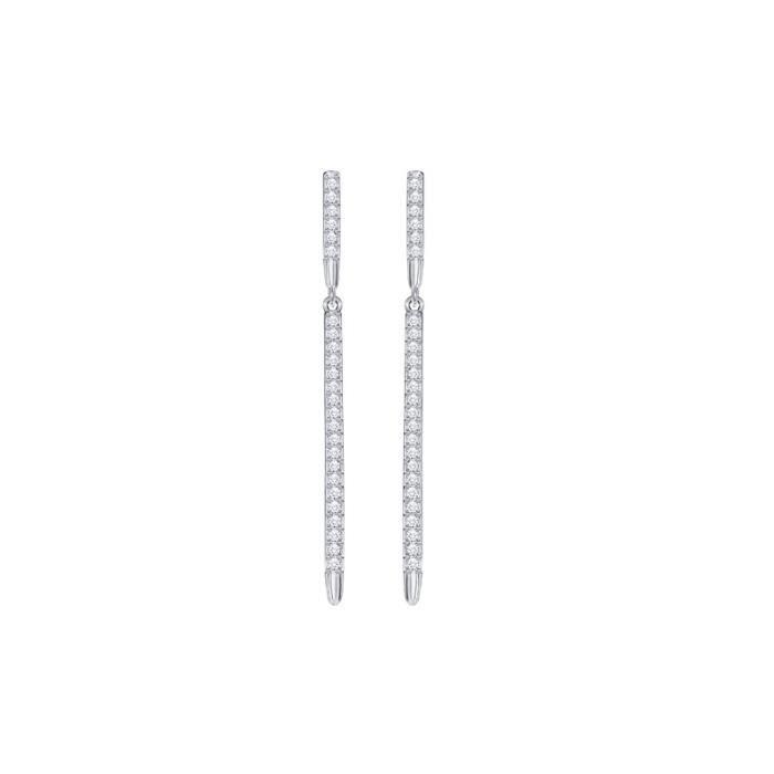 Boucles doreilles Swarovski Fine Ear-Jacket argentées - 5230663 Argent