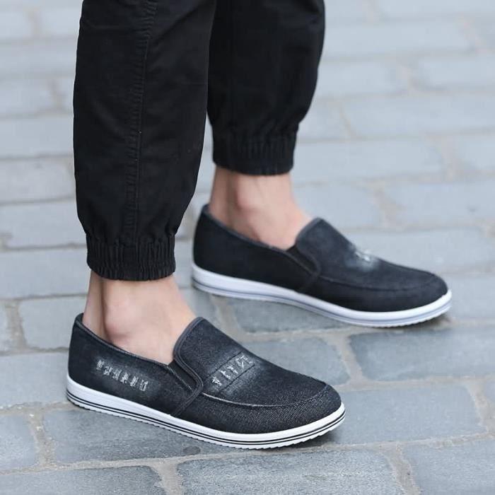 BASKET Casual Slip-On respirant et confortable Loisirs Chaussures pour Mode homme en tissu confortable (taille: 40-46),bleu