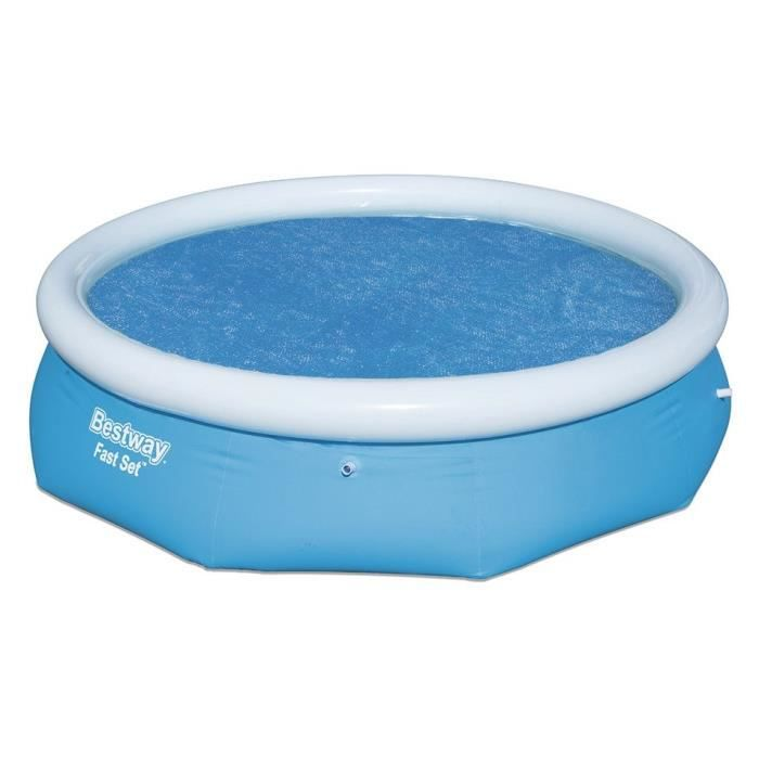 BESTWAY Bâche solaire Ø240cm pour Fast Set Pools 274x76cm