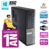 UNITÉ CENTRALE + ÉCRAN PC Dell 790 DT Intel G630 8Go Disque 480Go SSD Gra