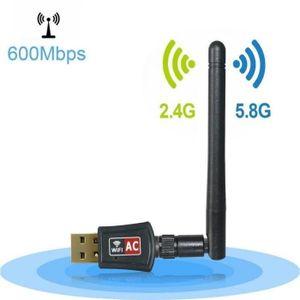 SERVEUR RÉSEAU Clé USB Wifi Dual Band 5GHz 433Mbps + 2.4GHz 150Mb