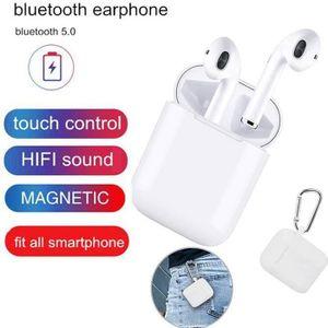 CASQUE - ÉCOUTEURS Ecouteur Bluetooth Oreillette sans Fil Casque Blue