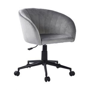 CHAISE DE BUREAU Chaise de bureau Doré Tissu Métal Chromé Hauteur R